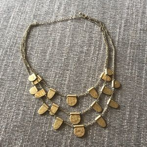 NWOT Anthropologie gold multi layer necklace